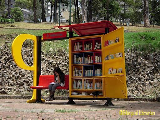 Library stop in Bogota-Colombia