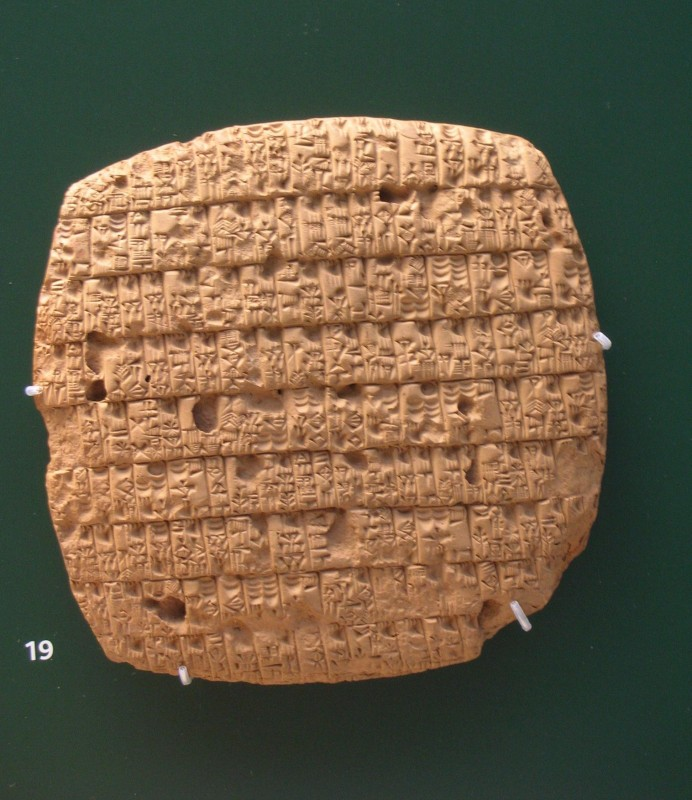 Issue_of_barley_rations, 2350 B.C., from Girsu, Iraq. British Museum