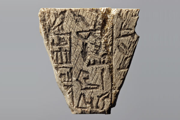ivory tag from Egyptian city of Abydos 2890 B.C.
